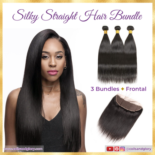 silky straight hair bundle with frontal