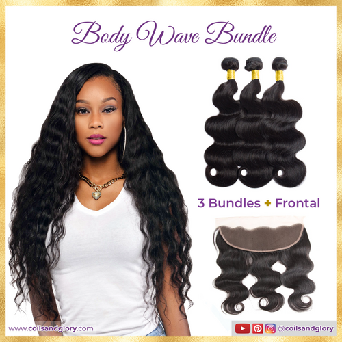 body wave weave with frontal