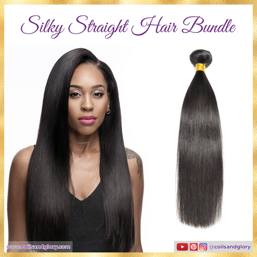 silky straight human hair