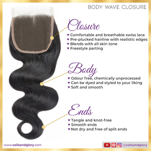 body wave closure sew in