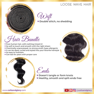 loose wave hair weft