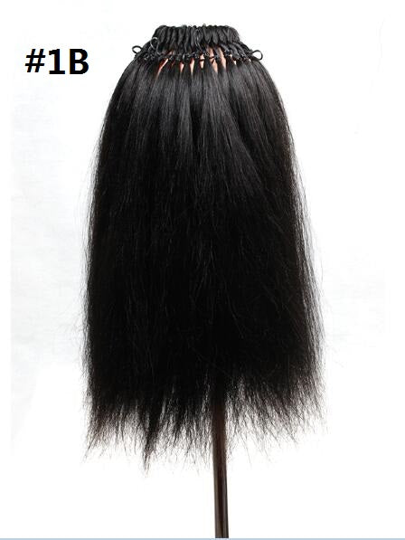 18inch 26 strands Pre loop yaki straight hair freetress braids crochet braid hair Brazilian Kinky Long Straight Hair Coarse Yaki - Coils and Glory Shop