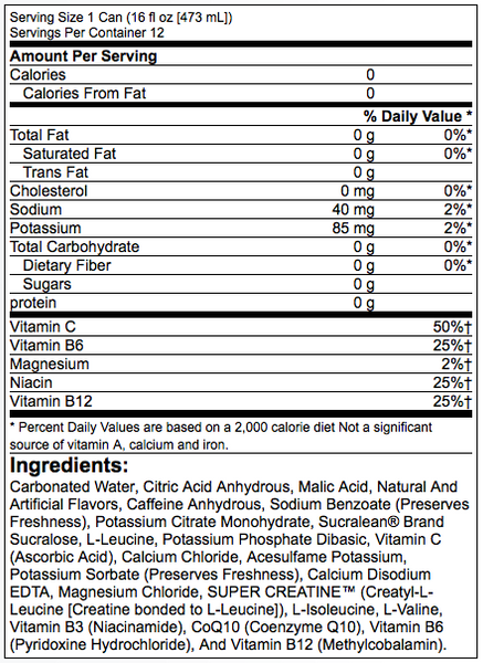 BANG Energy Drink Nutritional Facts
