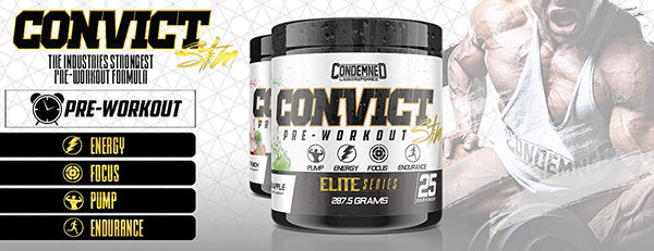 Convict Stim Pre Workout Features