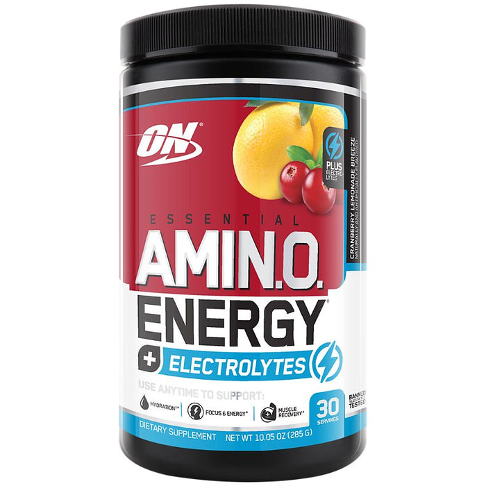 Optimum Nutrition Amino Energy + Electrolytes Cranberry Lemonade - 30 Servings