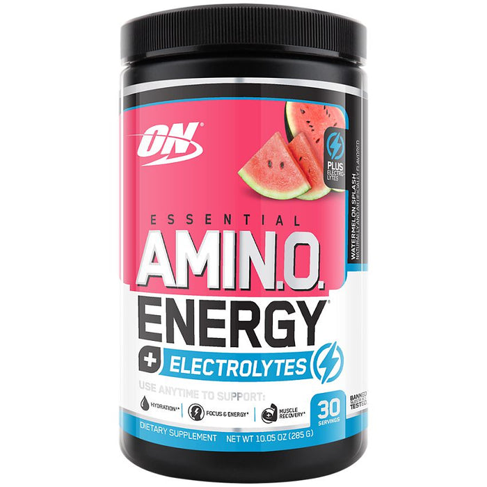 Optimum Nutrition Amino Energy + Electrolytes - Watermelon Splash - 30 Servings
