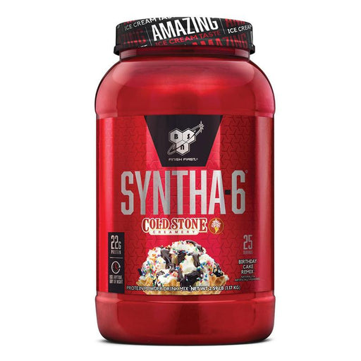 BSN Syntha-6 Cold Stone Creamery  protein powder-Birthday Cake Remix