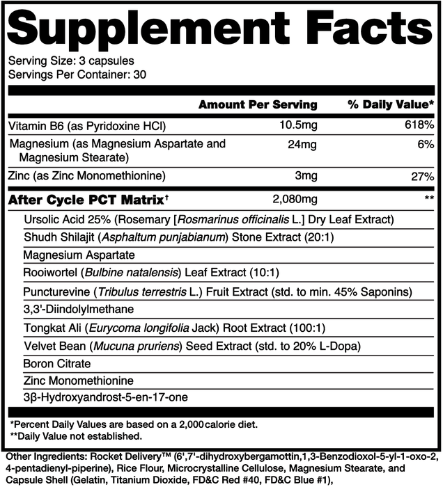 Alchemy Labs After Cycle Supplement Facts