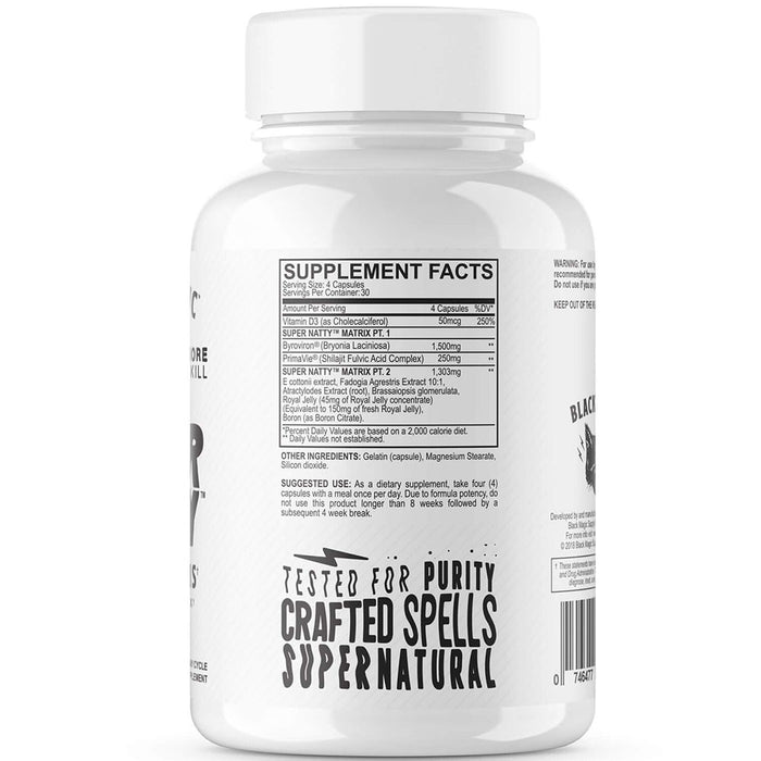 Black Magic Supply Super Natty Premium Test Booster Supplement Facts
