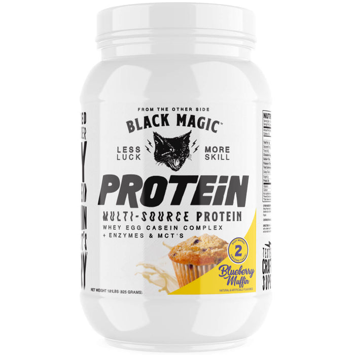 Black Magic Supply Multi-Source Protein Powder - Blueberry Muffin 25 Servings