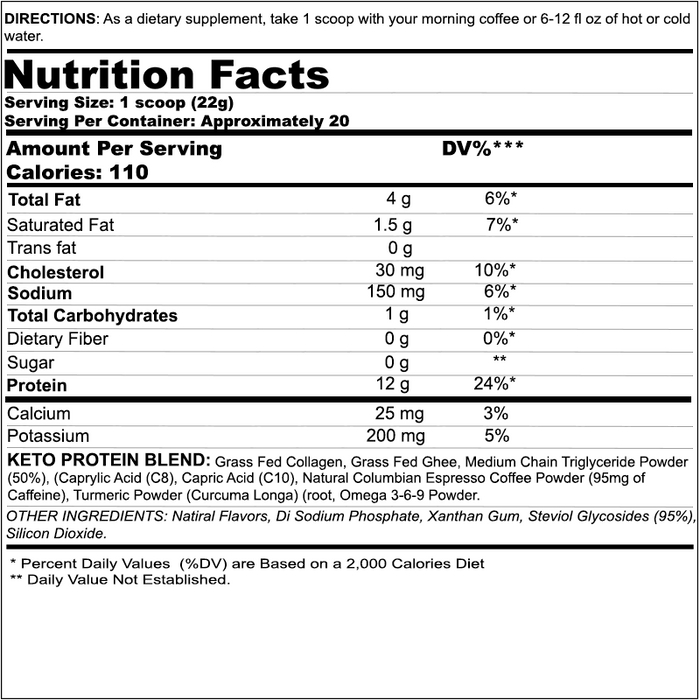 Black Magic Supply Skull Dust Keto Collagen Creamer Nutrition Facts