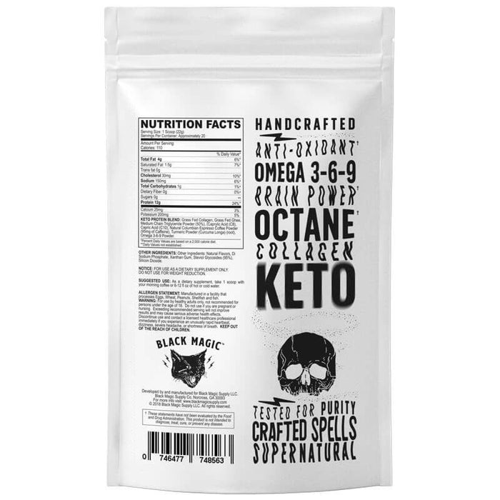 Skull Dust Keto Collagen Creamer by Black Magic Supply - Vanilla Mocha