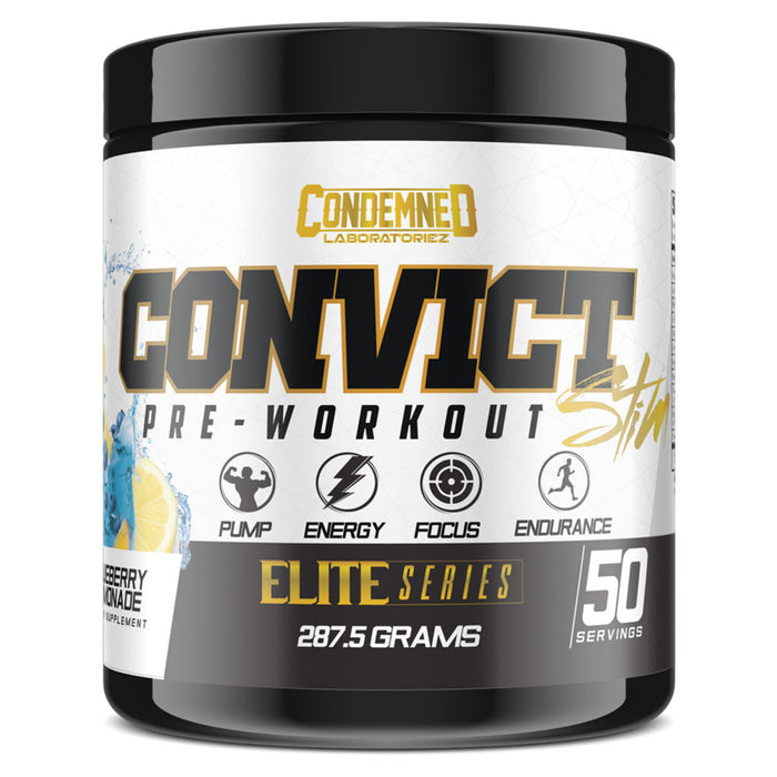 Condemned Labz Convict Stim Pre-Workout Supplement - Blueberry Lemonade