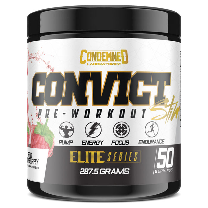 Condemned Labz Convict Stim Pre-Workout Supplement - Red Raspberry