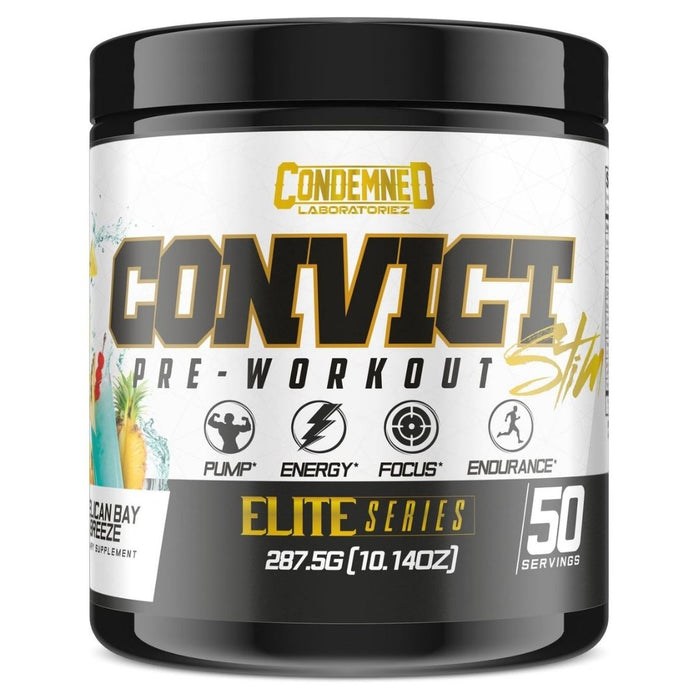 Condemned Labz Convict Pre Workout - Pelican Bay Breeze Flavor, 50 Servings