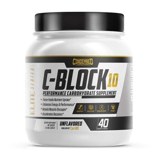 Condemned Labz C-Block 10, Performance Carbohydrate Supplement Powder