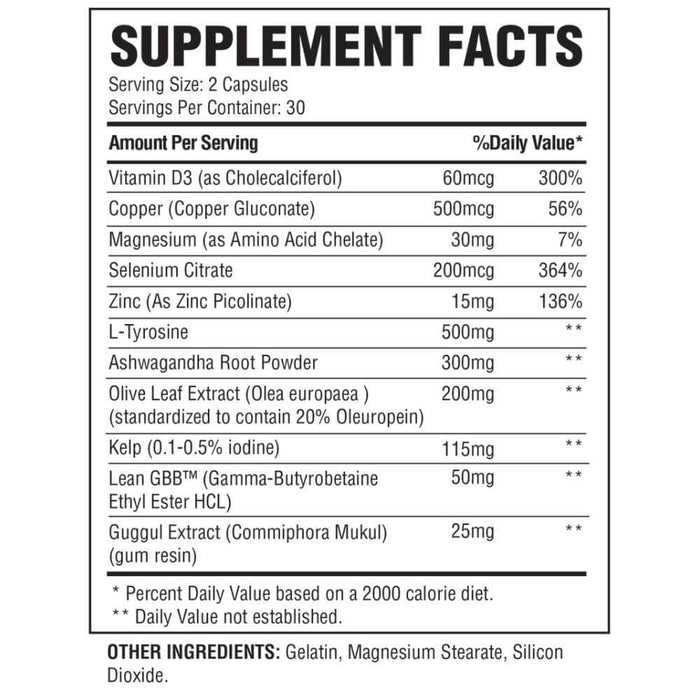 Condemned Labz Thyrogenic - Supplement Facts