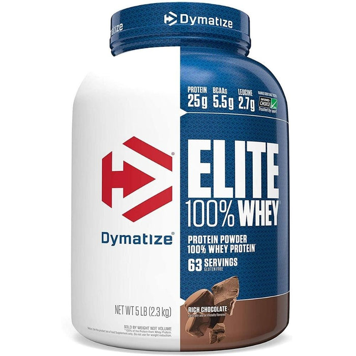 Dymatize Elite 100% Whey Protein - Rich Chocolate 5 lbs.