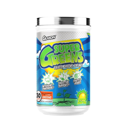 Glaxon Super Greens - Antioxidants Fruits, Greens & Fungi - Lemon Iced Tea