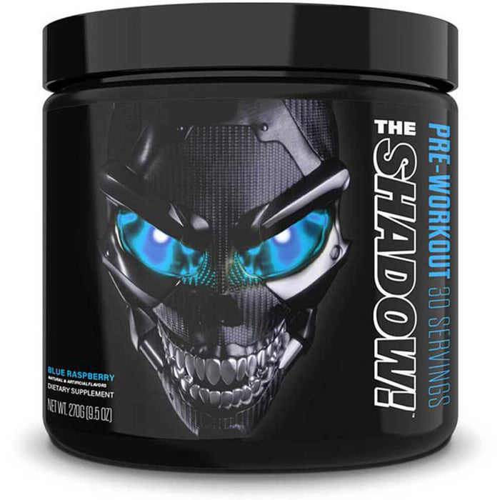 JNX Sports The Shadow Fully Powered Pre-Workout, 30 Servings - Blue Raspberry