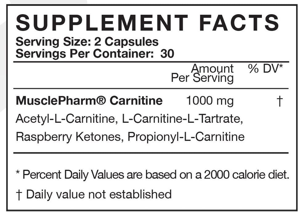 MusclePharm Carnitine Capsules