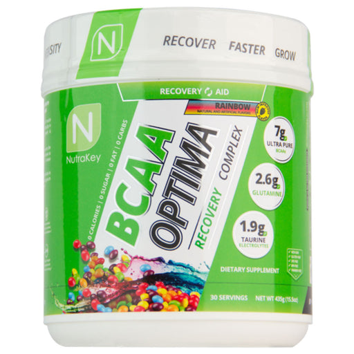 NutraKey BCAA Optima Recovery Complex - 30 Servings - Rainbow