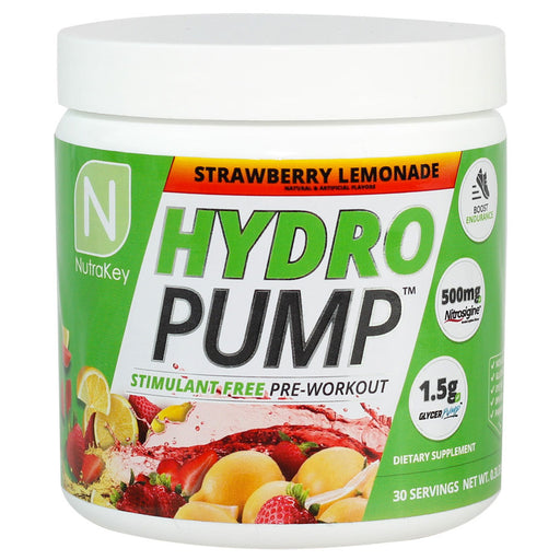 Nutrakey Hydro Pump Stim Free Pre-Workout, 30 Servings - Strawberry Lemonade