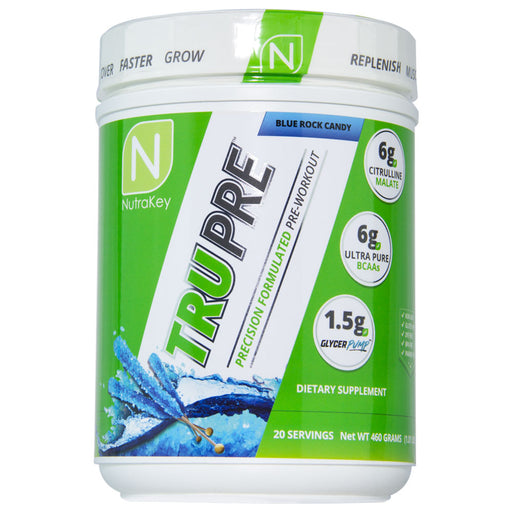 NutraKey TRU Pre - 20 Servings Blue Rock Candy