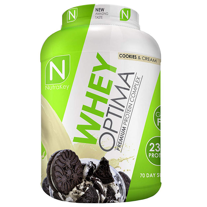 Nutrakey Whey Optima Premium Protein Cookies and Cream 5 lbs