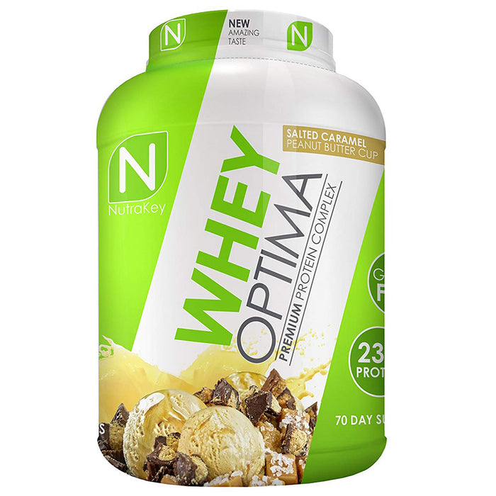 Nutrakey Whey Optima Premium Protein Salted Caramel Peanut Butter Cup 5 lbs