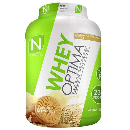 Nutrakey Whey Optima Premium Protein Vanilla Ice Cream Cookie 5 lbs