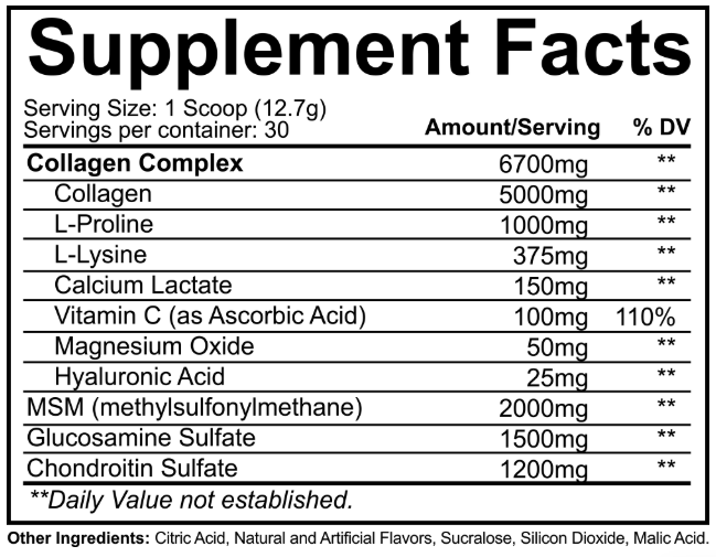 NutraKey Innoflex Supplement Facts