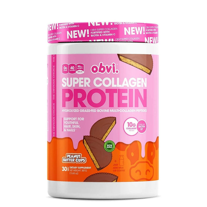 Obvi Super Collagen Protein, Peanut Butter Cups