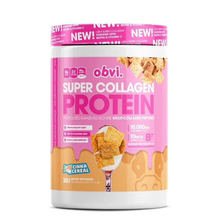 Obvi Super Collagen Protein, Cinna Cereal