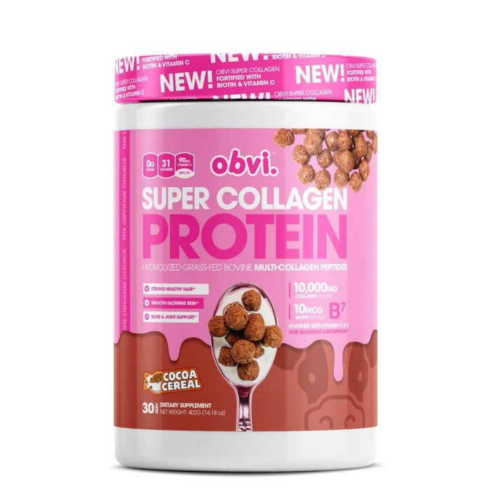 Obvi Super Collagen Protein, Cocoa Cereal