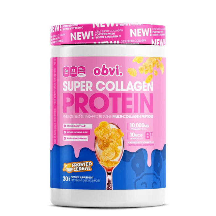 Obvi Super Collagen Protein, Frosted Cereal
