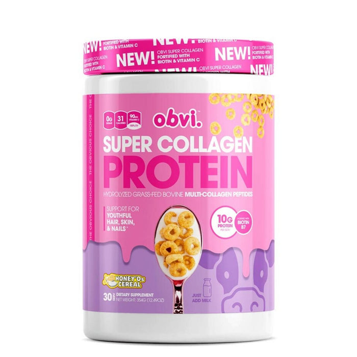 Obvi Super Collagen Protein, Honey O's Cereal