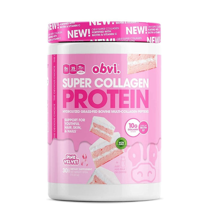 Obvi Super Collagen Protein, Pink Velvet