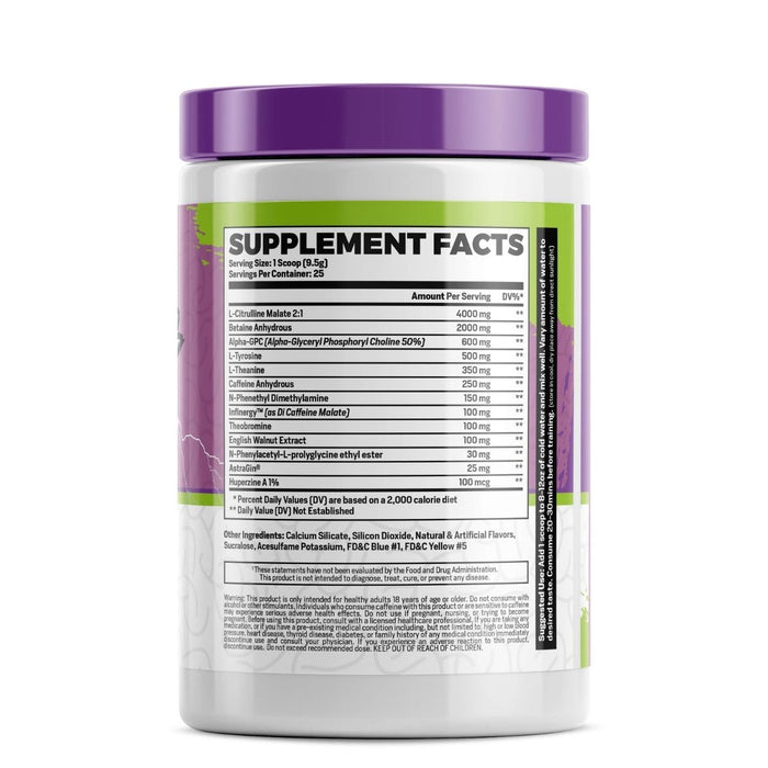 P1 Supps Brain Blitz Pre-Workout - Mind Candy Supplement Facts