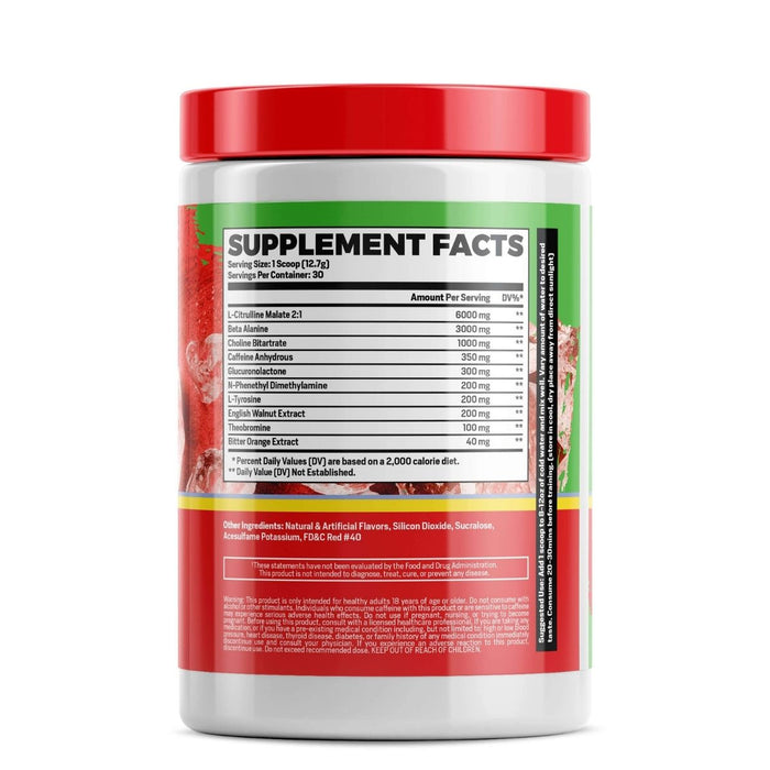 Phase One PrePhase - Cherry Limeade Pre Workout Supplement Facts