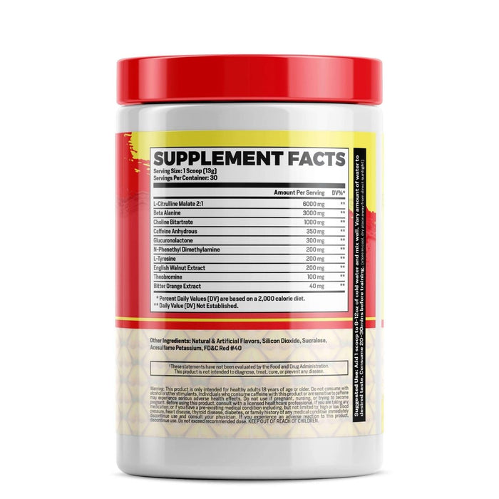 Phase One PrePhase - Lemonade Punch Pre Workout Supplement Facts