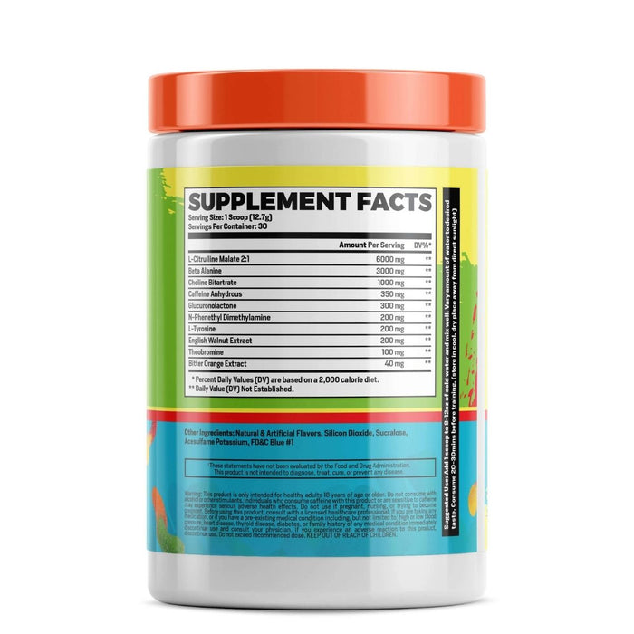 Phase One PrePhase - Sour Worms Pre Workout Supplement Facts
