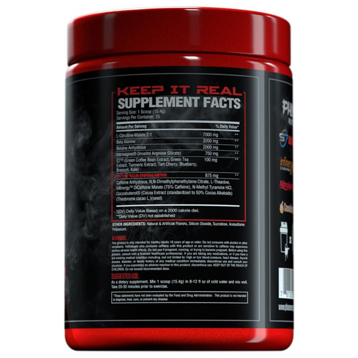 Phase One Nutrition PrePhase Remix Pre Workout Label