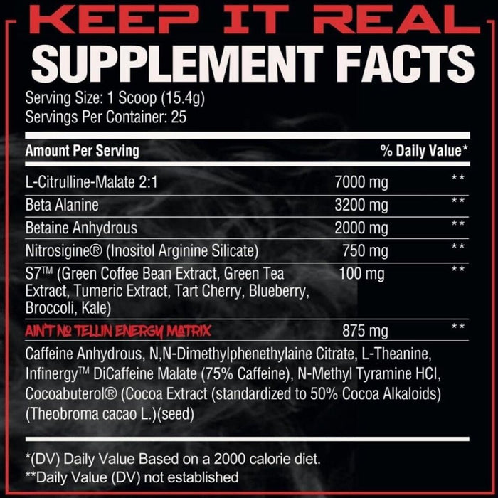 Phase One Nutrition PrePhase Remix Pre Workout Supplement Facts