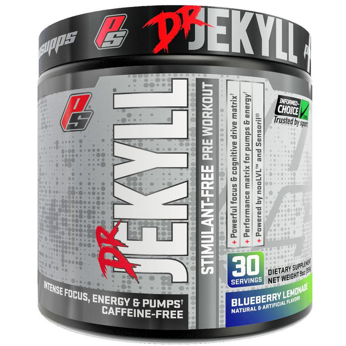 Pro Supps Dr. Jekyll Stimulant-Free Nitric Oxide Boosting Pre-Workout