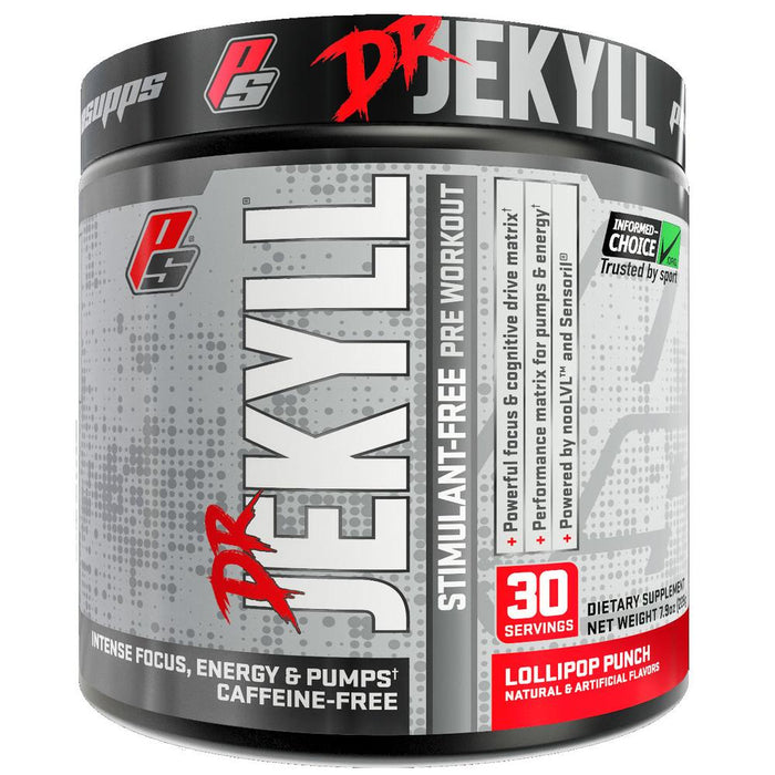 Dr. Jekyll Stimulant-Free Nitric Oxide Boosting Pre-Workout Lollipop Punch
