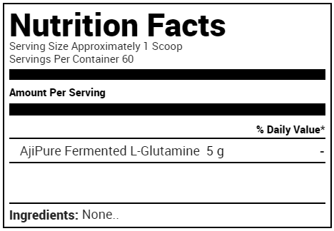 Purus Labs Foundation Series Glutamine Supplement Facts