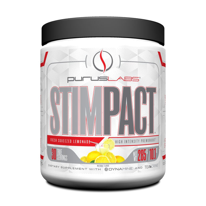 Purus Labs StimPact High Energy Pre-Workout - Fresh Squeezed Lemonade