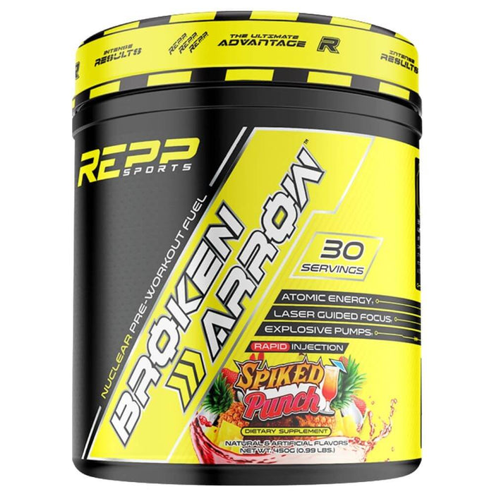 REPP Sports Broken Arrow Pre Workout Fuel, 30 Servings - Spiked Punch