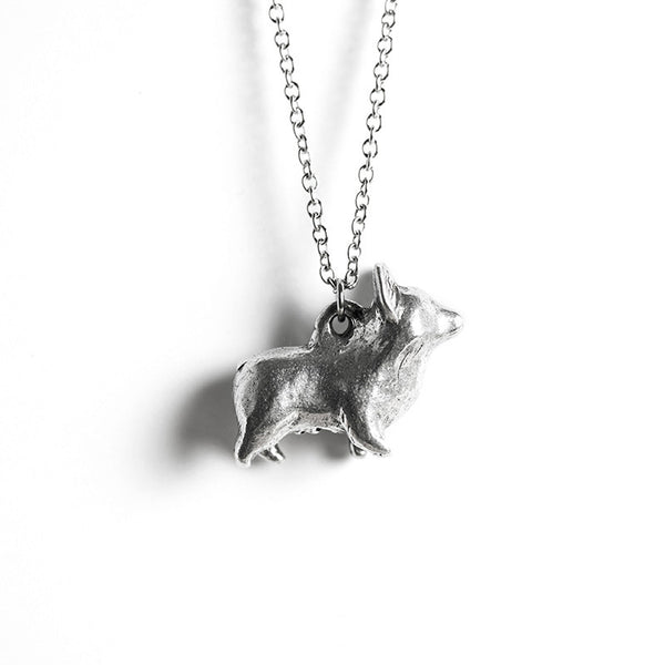 Le Happy Corgi Necklace